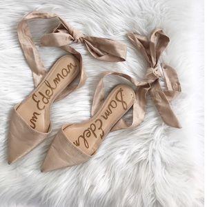 Same Edelman Brandie Lace Up Ballet Flats